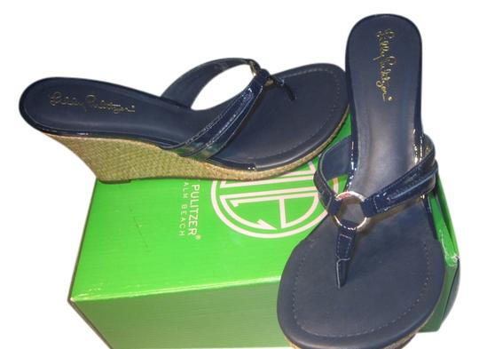 Lilly Pulitzer Navy Wedges