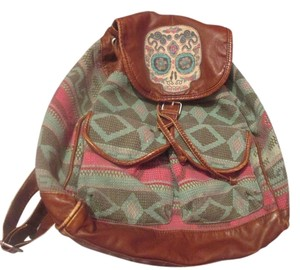 Mossimo Supply Co. Skull Lots Of Pocket Space Backpack