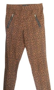 Forever 21 High Waisted Cheetah Print Skinny Pants brown, black