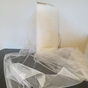 Tulle Ivory 72""