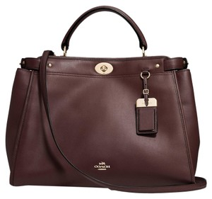 Coach Madison Carryall Lindsay Satchel in Oxblood