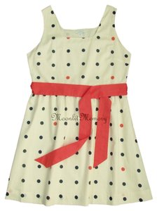 Garnet Hill short dress Coral, Navy, Beige Polka Dot Orange New Without Tags on Tradesy