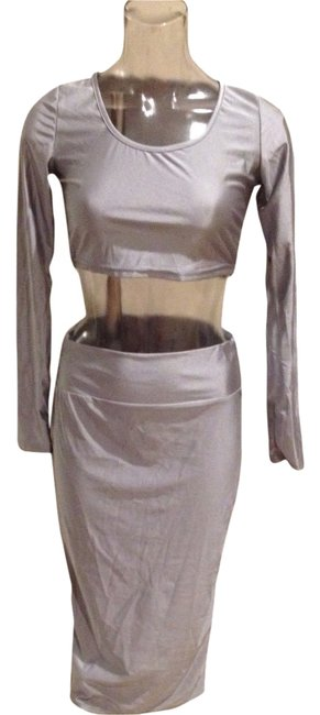Preload https://item5.tradesy.com/images/silver-gray-night-out-dress-size-4-s-3109324-0-0.jpg?width=400&height=650