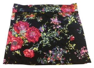 46b675743c Charlotte Russe Short Tight Bodycon Floral Flowers Black Sexy Mini Skirt  Multicolored