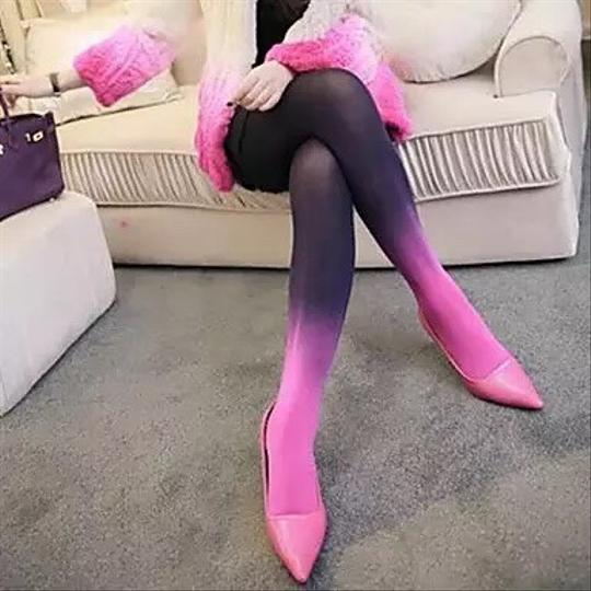 City Lady for Zalora Gradient Colors Pantyhose/Tights