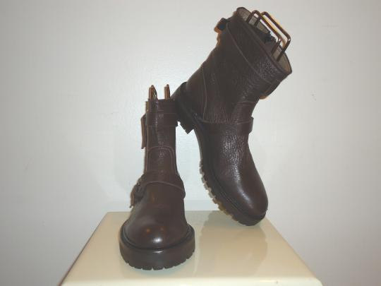 Chuckies Biker Leather Ankle Brown Boots
