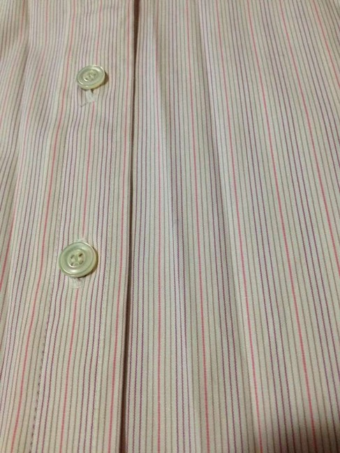 J.Crew Stripes Tailored Button Down Shirt White / pink