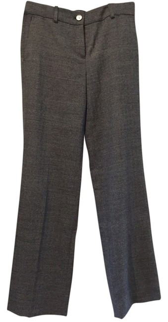 Ann Taylor Wool Work Trouser Pants Dark Grey Twill