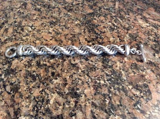 Other Large and heavy Sterling Silver Rope Bracelet