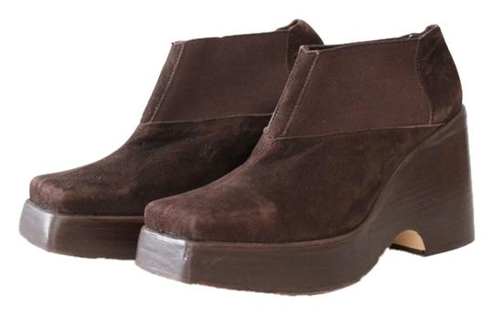 Nine West Platform Ankle Suede Brown Boots