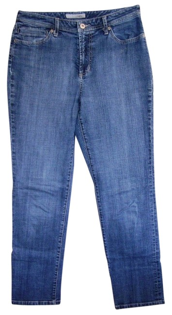 Chico's Straight Leg Jeans-Distressed