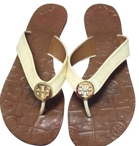 60a0948cb Tory Burch Cream Sandals - item med img. Tory Burch. Cream Sandals. Size  US  6 Regular (M ...