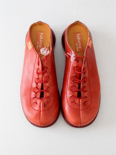 Tabarca by Pepa Leather Clogs Red Flats