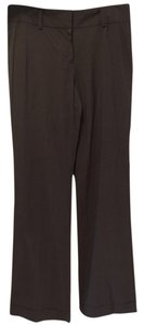 Ann Taylor Wool Work Trouser Pants Brown Stripe