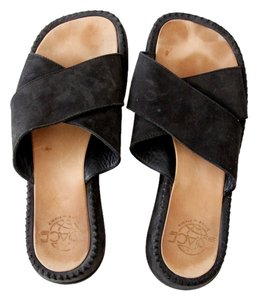 Other Platform Suede Black Sandals