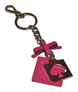 Kate Spade NWT KATE SPADE CUT OUT SPADE KEY FOB RING PINK FOR BAG