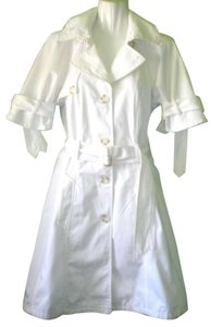 United Colors of Benetton Trench Kimono Sleeve White Trench Trench Trench Coat