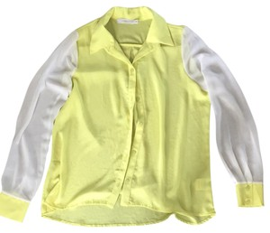 Lush Top White And Neon Yellow/green
