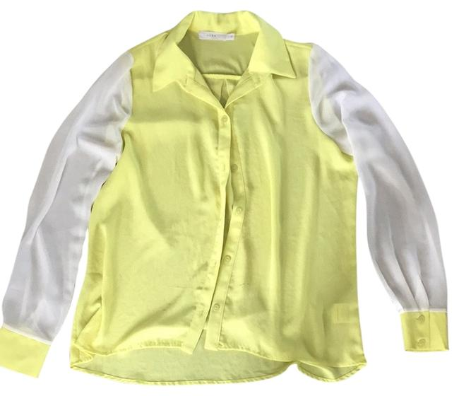Preload https://item2.tradesy.com/images/lush-top-white-and-neon-yellowgreen-3112861-0-0.jpg?width=400&height=650