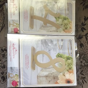 Kate Aspen Gold Table Numbers (1-12) Centerpiece