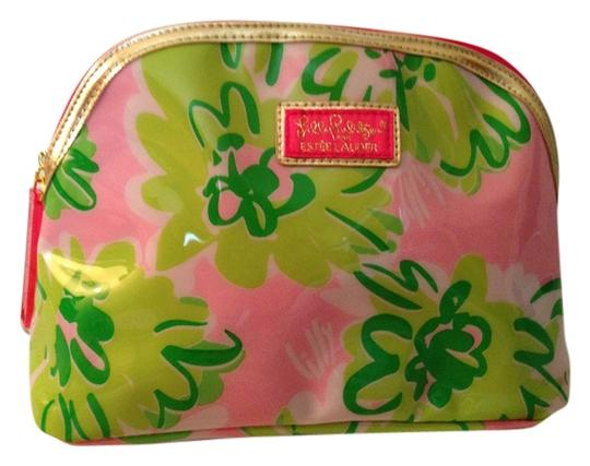 Lilly Pulitzer Plastic Outside Satchel in Pink, green and white flowered