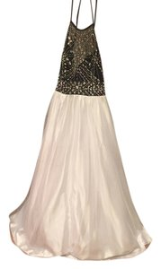 B. Darlin Prom Beaded Halter Dress