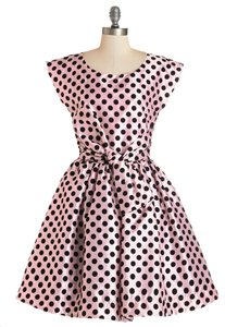 Modcloth Polka Dot Bow Party The Nicolette Dress