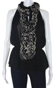 Robert Rodriguez Ruffle Top black