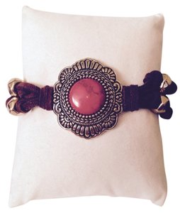 Barse Paint It Red Leather & Howlite Bracelet
