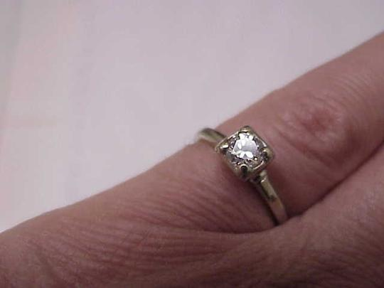 Other Vintage Antique 14k white gold ring with .50ct brilliant cut diamond