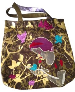 Disney Tote in Army green, purple, gold