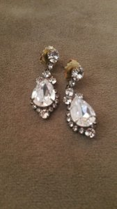 BHLDN Crystal (Gold Backing) Never Worn Lettice Drop From Earrings