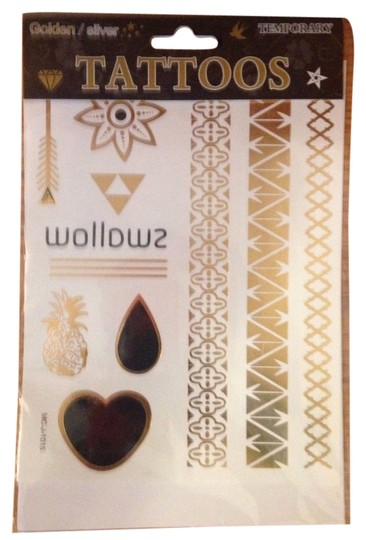 Other Temporary Gold Silver Metallic Tattoo