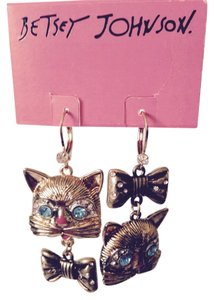 Betsey Johnson Betsey Johnson Kitty Cat Earrings Only! Matching Pieces Sold Seperately.