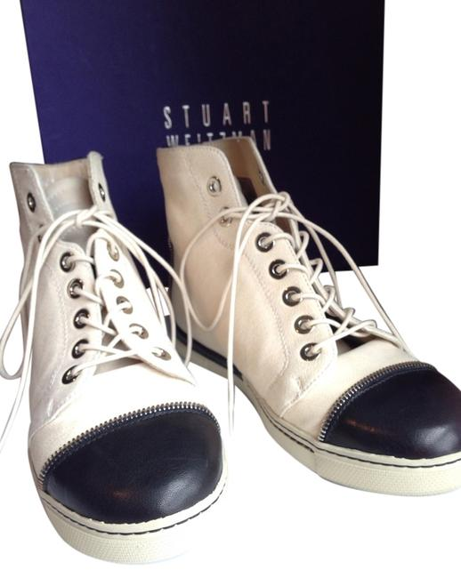 Item - Cream Zipit Leather High-top Sneakers Size US 7 Regular (M, B)