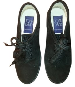 Joan & David &david Suede Handmade In Italy Black Platforms