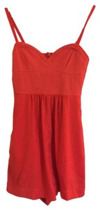 BCBGMAXAZRIA Bcbg Orange Playsuit Sleeveless Poppy Bustier Dress