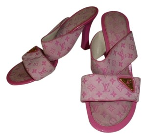 Louis Vuitton PINK MONOGRAM Mules