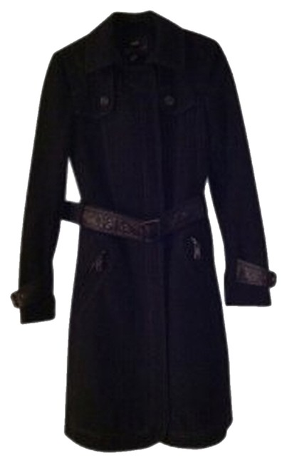 Preload https://item2.tradesy.com/images/miss-sixty-black-knee-length-belted-pea-coat-size-2-xs-31166-0-1.jpg?width=400&height=650