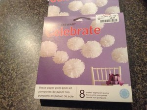 Martha Stewart White 4 Boxes Of Tissue Paper Pom Poms Reception Decoration
