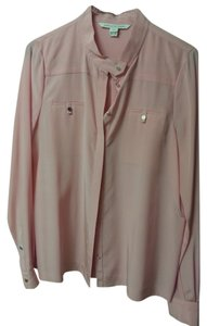 Diane von Furstenberg Dvf Button-down Silk Top Pink