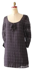 Juicy Couture short dress Black Sheer Plaid Long Sleeve on Tradesy