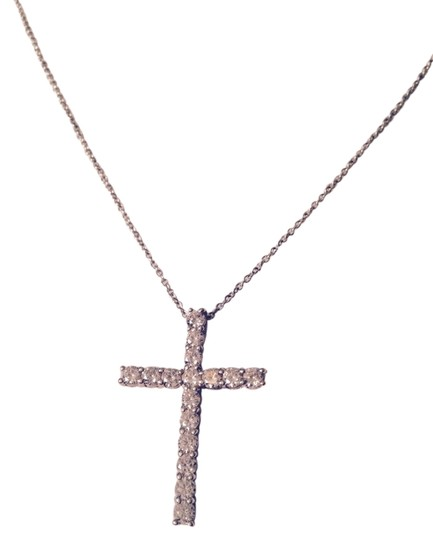 Preload https://item1.tradesy.com/images/silver-sterling-cubic-zirconia-cross-necklace-3117505-0-0.jpg?width=440&height=440