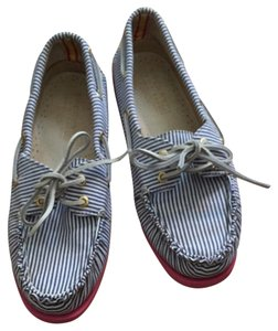 Sperry Blue Stripe Flats