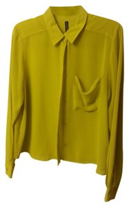 W118 by Walter Baker Chiffon Top Green