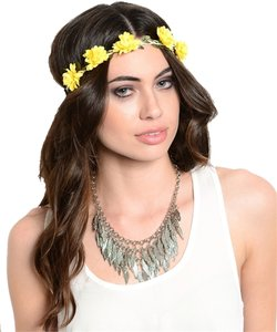 Other Yellow Floral Flower Headband