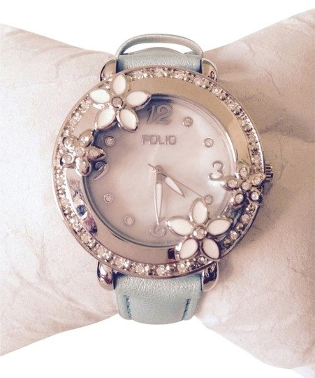 Folio Enamel Flowers, Crystal & MOP Watch