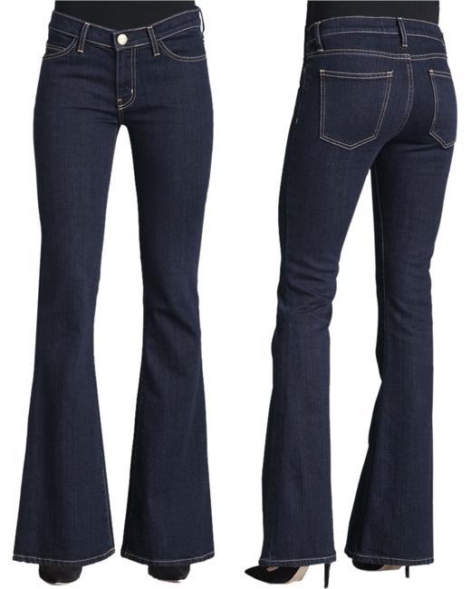 Current/Elliott Flare Leg Jeans-Dark Rinse