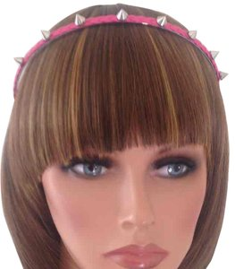 Other Pink Fashion Gothic Punk Braided Metal Spike Hair Headband