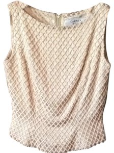Carmen Marc Valvo Beaded Designer Top Gold